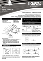 Installation Instructions - F2189/03 - AFLR48 Airflow Ceiling Sweep Fan, 23609