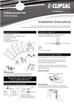 Installation Instructions - F2313/03 - ACES52R5L Ceiling Sweep Fan, 23963