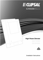 Installation Instructions - F2274/02 - 32/1000, 32/2400 High Power Dimmer, 25483