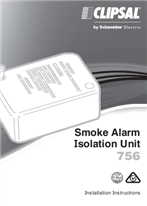 Installation Instructions - F1076/03  - 756 Smoke Alarm Isolation Unit, 19908