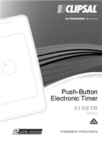 Installation Instructions - F1178/05 - 31VETR Series Push Button Electronic Timer, 24583