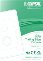 Installation Instructions - F1778/07 - 32E450T Series c-thru Trailing Edge Dimmer, 26423