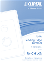 Installation Instructions - F1777/05 - 32E450L Series c-thru Leading Edge Dimmer, 26421