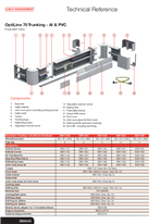 Technical Information - OptiLine 70 Trunking - Al and PVC