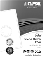 Installation Instructions - F2290/04 - 31E4RUD Series c-thru Universal Dimmer 800W, 26766