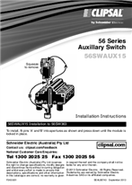 Installation Instructions - F2430/01 56SWAUX15 56 Series Auxillary Switch, 26743
