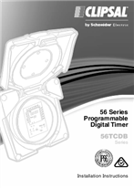 Installation Instructions - F2196/02- 56TCDB Series Programmable Digital Timer 56 Series, 27172