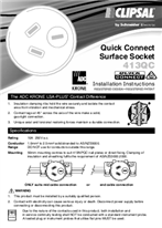 Installation Instructions - F1762/08 - 413QC Quick Connect Surface Socket, 111000