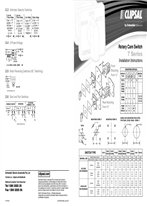 Installation Instructions - F1107/06 - Rotary Cam Switch 7 Series2, 24840