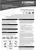 Installation Instructions - F2053/03 - 7600ATP Airflow Sunshine Fan, Light and Heater Unit, Fitting Instructions, 115464