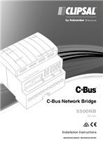 Installation Instructions - F1861/03 - 5500NB Series C-Bus Network Bridge - 112302