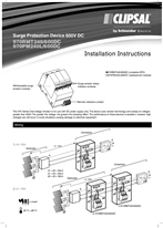 Installation Instructions - F2400/01 - 970RMT240/600DC, 970PM240L/600DC Surge Protection Device 600V DC, 25123