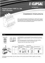 Installation Instructions - F2401/01 - 4SW1000/6DC Isolating Switch 1000V d.c. 50A, 25127