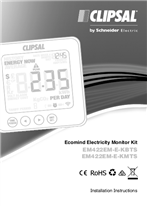 Installation Instructions - F2349/03 - EM422EM-E-KBTS, EM422EM-E-KMTS Ecomind Electricity Monitor Kit, 115604
