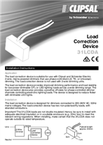 Installation Instructions - F2423/03 - 31LCDA Load Correction Device, 117564