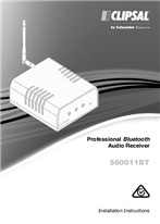 Installation Instructions - F2363/02 - 560011BT Professional Bluetooth Audio Receiver, 119470