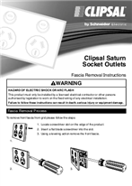 Installation Instructions - F2461/01 - Clipsal Saturn Socket Outlets Fascia Removal Instructions, 118261