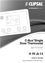 Operating Instructions - F2012/02 - 5070THB Series C-Bus Single Zone Thermostat User's Guide, 119951