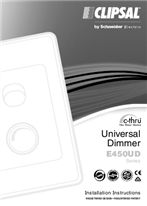 Installation Instructions - F2010/07 - E450UD Series c-thru Universal Dimmer, 122703