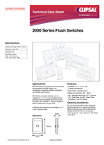 Product Data Sheet - 2000 Series Flush Switches, 123603