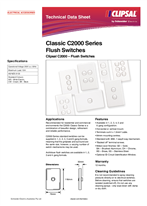Product Data Sheet - Classic C2000 Series Flush Switches, 123603