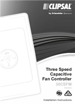 Installation Instructions - F2014/07 - 30CSFM Series Three Speed Capacitive Fan Controller, 24289