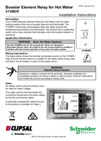 Installation Instructions - F2476 - 31VBER Booster Element Relay for Hot Water