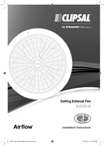 Installation Instructions - F1807 - 6230-0 Airflow Ceiling Exhaust Fan, 24079