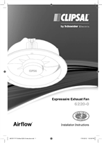 Installation Instructions - F1717 6220-0 Airflow Expressaire Exhaust Fan, 24078