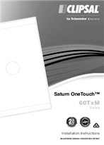Installation Instructions - F2320/02 - 60TDM, 60TDSM, 60TSRM3 Series, Saturn OneTouch, 22483