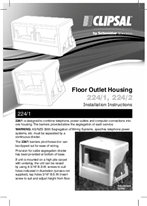 Installation Instructions - F381/04 - 224/1 and 224/2 Floor Outlet Housing, 21365