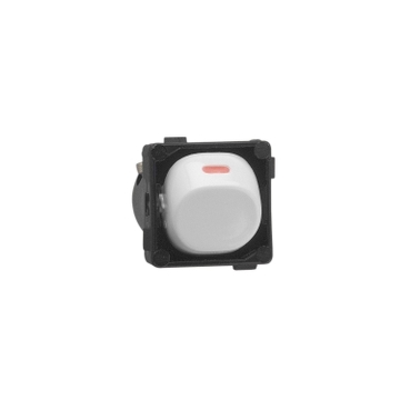 switch mech 1/2w 10a red dot