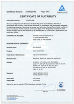 Certificate of Suitability