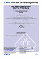 Certificate iDPN aNH Vigi type A according to EN 61009-1:2012 +A1 +A2 +A11 +A12 and EN 61009-2-1:1994 +A11