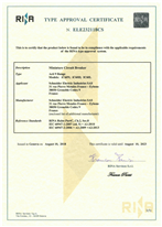Acti9 iC60N - iC60H - iC60L - RINA Type Approval Certificate according to IEC 60947-1 & IEC 60947-2