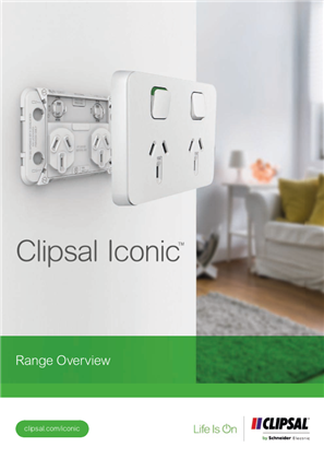 Clipsal ICONIC Product Overview Brochure 998-20218554_AU-GB