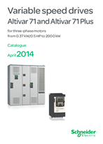 Catalog:  Altivar 71/71 Plus  variable speed drives - English version 2014/04  (web pdf format)