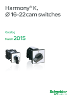 Catalog of Harmony K, cam switches