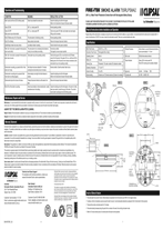 755RLPSMA2 Smoke Alarm Instructions