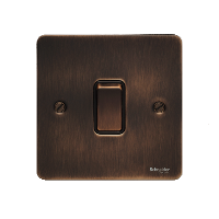 Ultimate Flat plate - 2-way plate switch - 1 gang - bronze
