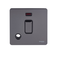 Ultimate Screwless flat plate - 2-pole switch - 1 gang - black nickel