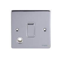 Ultimate Low profile - 2-pole switch with flex outlet - 1 gang - chrome