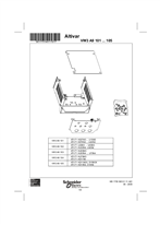 Kits for IP21 or IP31 conformity (VW3 A9 101 ... 105)