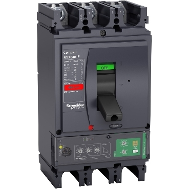 Compact NSX molded case circuit breaker (MCCB) 570-630 3P F/36kA with Micrologic 4.3 Vigi 570A