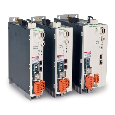 Lexium 52 servo drives are available in three different sizes, which cover five different power levels