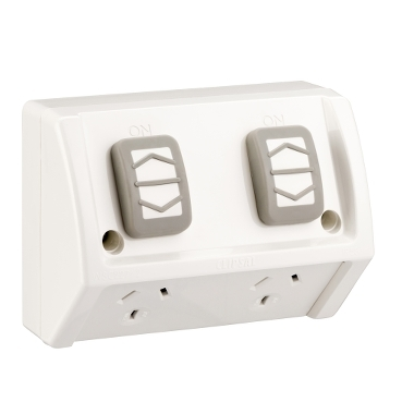 DOUBLE SWITCHED SOCKETS WEATHERPROOF