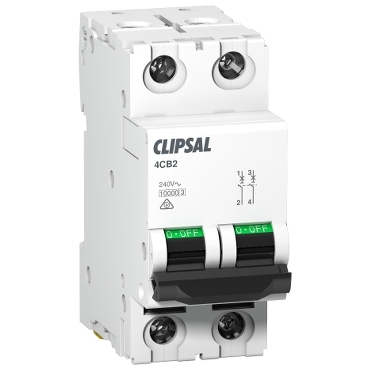 MCB commercial  2P 2 modules; Max 4; Clipsal
