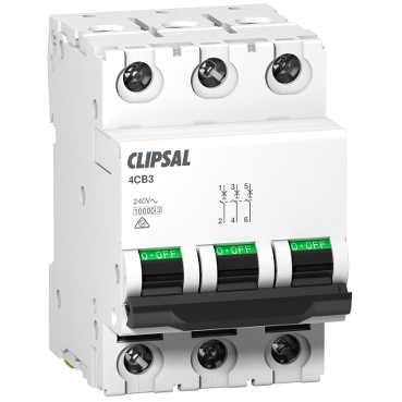 MCB commercial  3P 3 modules; Max 4; Clipsal