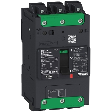 PowerPact B Multistandard molded case circuit breaker (MCCB) 3-pole