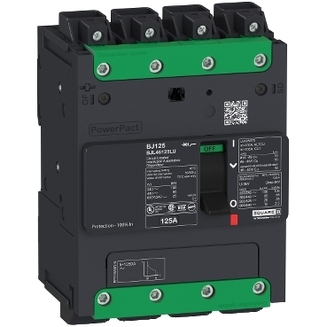 PowerPact B Multistandard molded case circuit breaker (MCCB) 4-pole